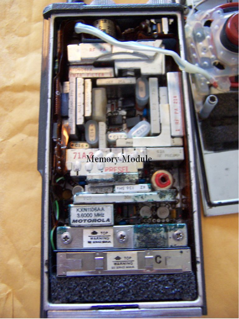 Inside of Motorola MX-300S Handheld